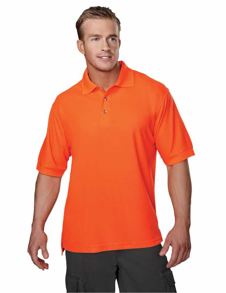 Tri mountain men 39 s big and tall three button placket golf for Mens tall t shirts