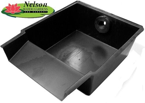 15 pond spillway weir waterfall box garden water filter for Diy garden pond filter