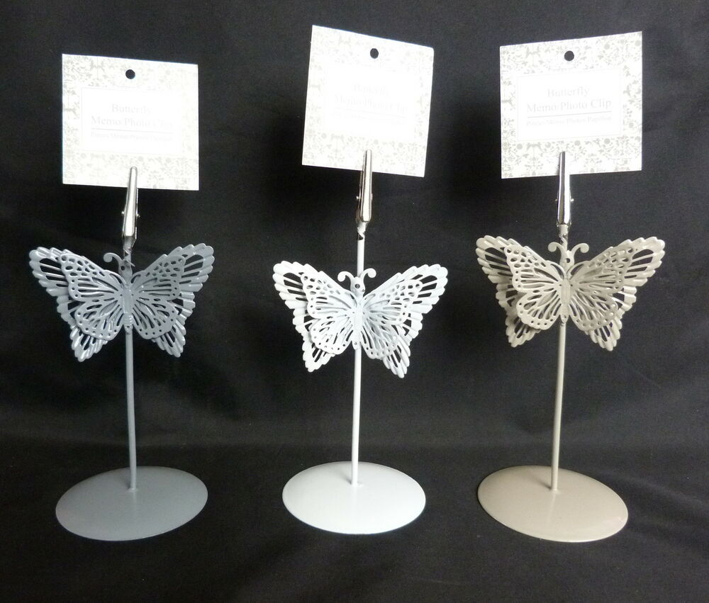 Butterfly menu holder table number holder place card for Table number holders