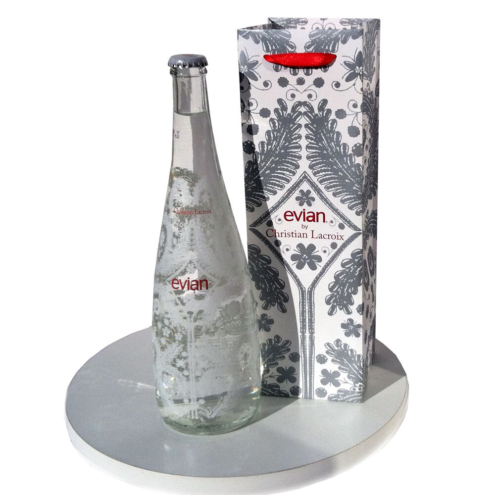 2008 evian water collectible bottle snowflake crystal christian lacroix ebay - Evian christian lacroix ...