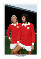 BEST AND LAW A4 PHOTO PRINT ICONIC IMAGE MAN UTD MANCHESTER UNITED GIFT FOR HIM