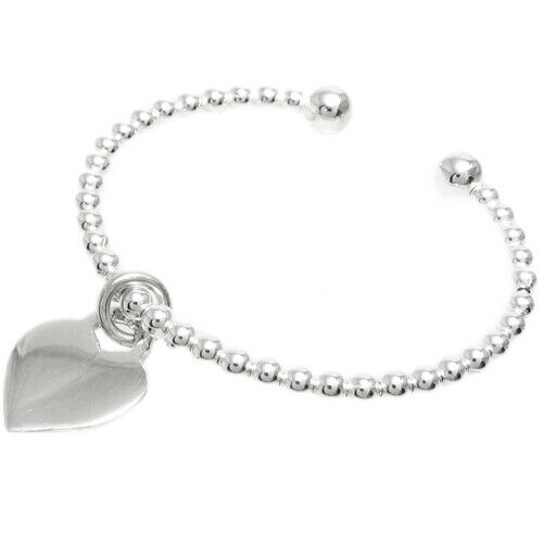 Sterling Silver 4 5 Quot Engraved Baby Bead Bracelet W