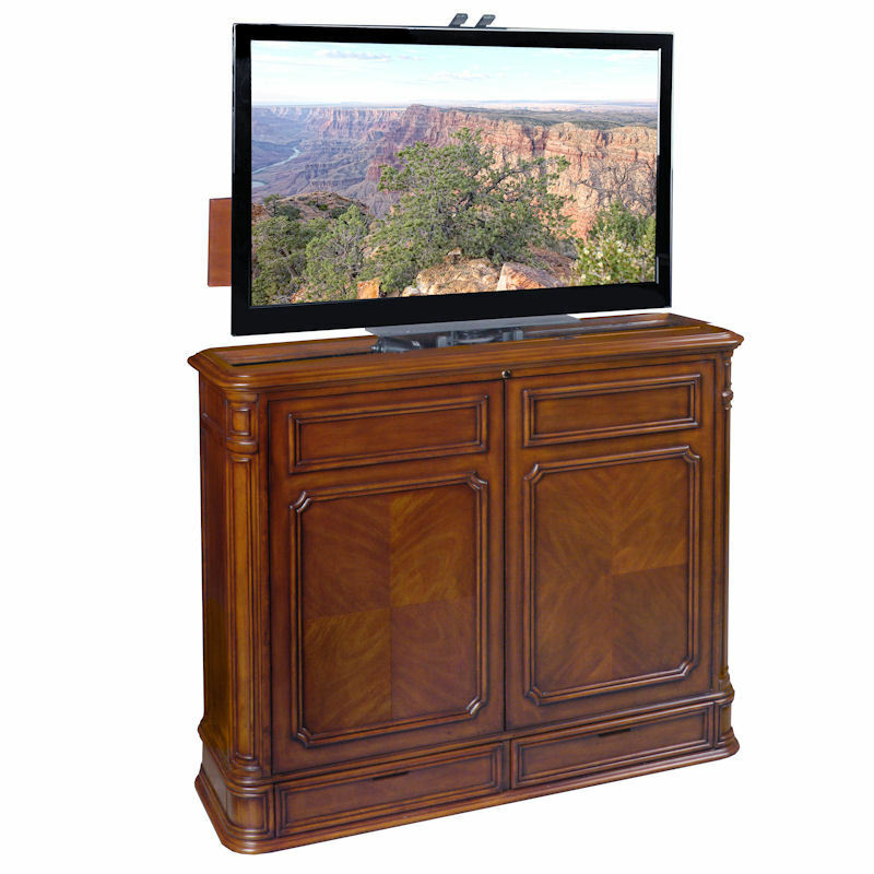 crystal pointe 360 swivel tv lift cabinet by tvliftcabinet. Black Bedroom Furniture Sets. Home Design Ideas