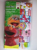 Sesame Street Toddler Girls Underwear 7 Panty Pack Sz 2T/3T  NIP