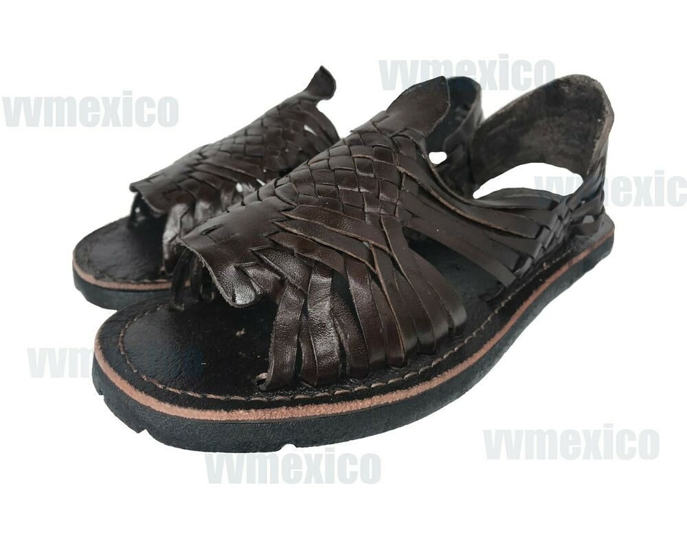 mens leather mexican sandals brown huarache made in mexico