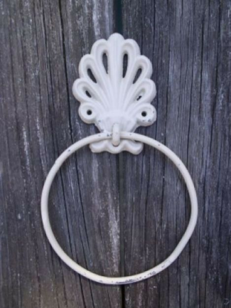 Victorian towel ring holder shabby chic n ebay for Shabby chic towel stand