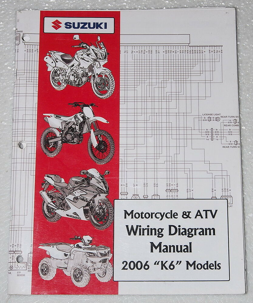 2006 Suzuki Motorcycle Atv Wiring Diagrams Manual K6