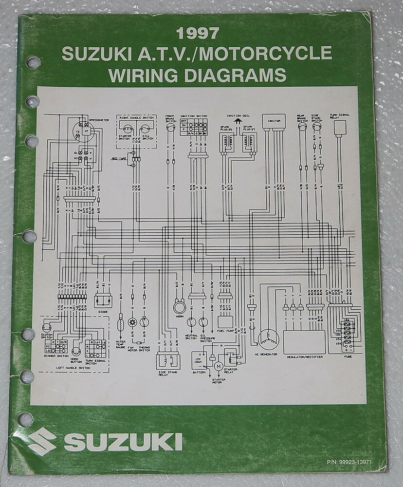 1997 Suzuki Motorcycle Atv Wiring Diagrams Manual Electrical Troubleshooting 97