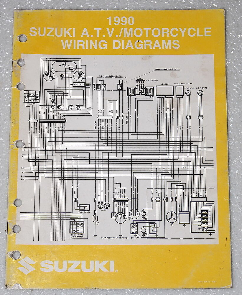 1990 Suzuki Motorcycle And Atv Electrical Wiring Diagrams Manual 90  U0026quot L U0026quot  Models