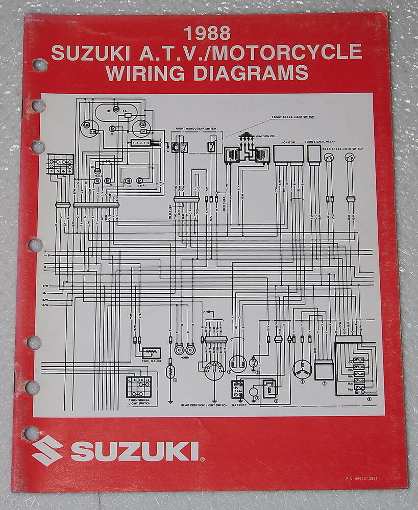 1988 Suzuki Motorcycle And Atv Electrical Wiring Diagrams