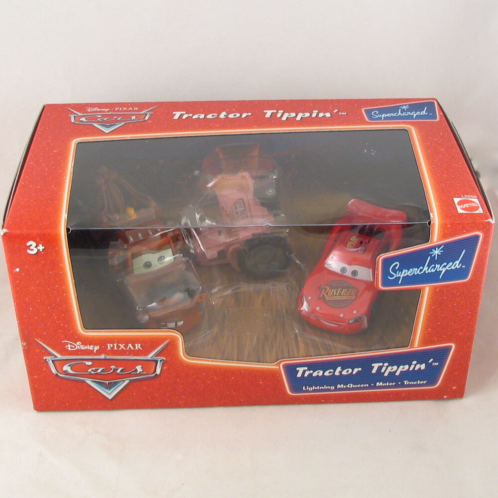 Disney Pixar Cars Supercharged Tractor Tippin 3 Pack Worn