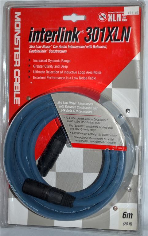 Monster Cable Interlink 301xln 6m 20ft 5 Pin Xlr Cable New