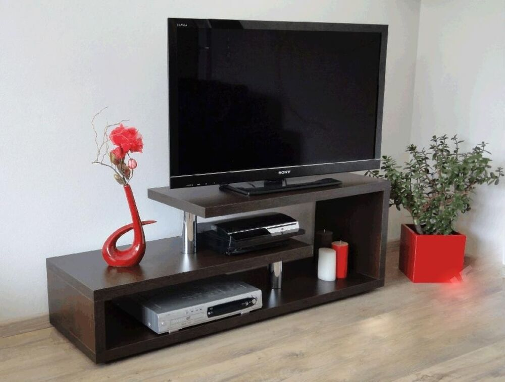tv regal 140 cm lcd fernsehschrank rack hifi lowboard design m bel schrank chrom ebay. Black Bedroom Furniture Sets. Home Design Ideas