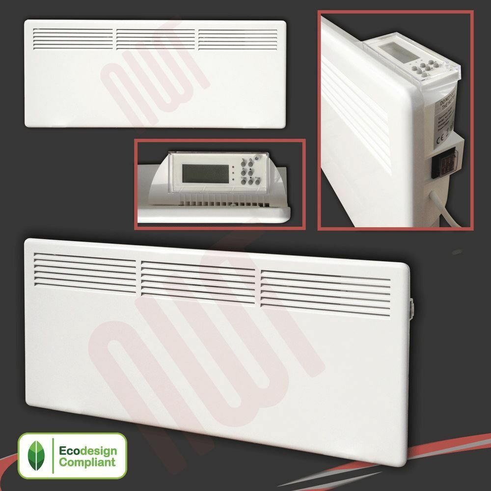 2000w Nova Live S Electric White Panel Convector Heater