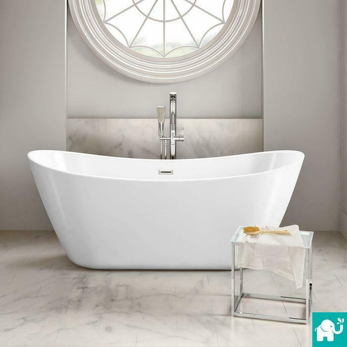 Modern bathroom designer curved freestanding roll top bath tub br269 ebay Freestanding bathtub bathroom design