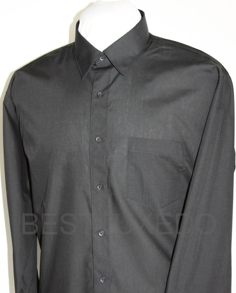 Size l neck 16 16 5 sleeve length 34 35 men 39 s black for Mens dress shirt sleeve length