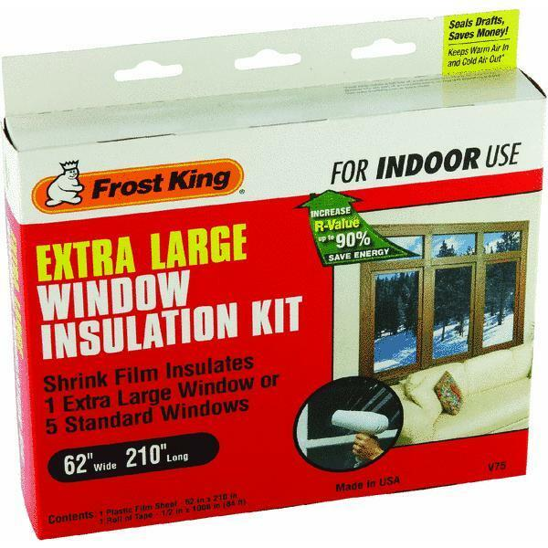 1 window insulation kit for extra large window 62 x 210 for Window insulation kit
