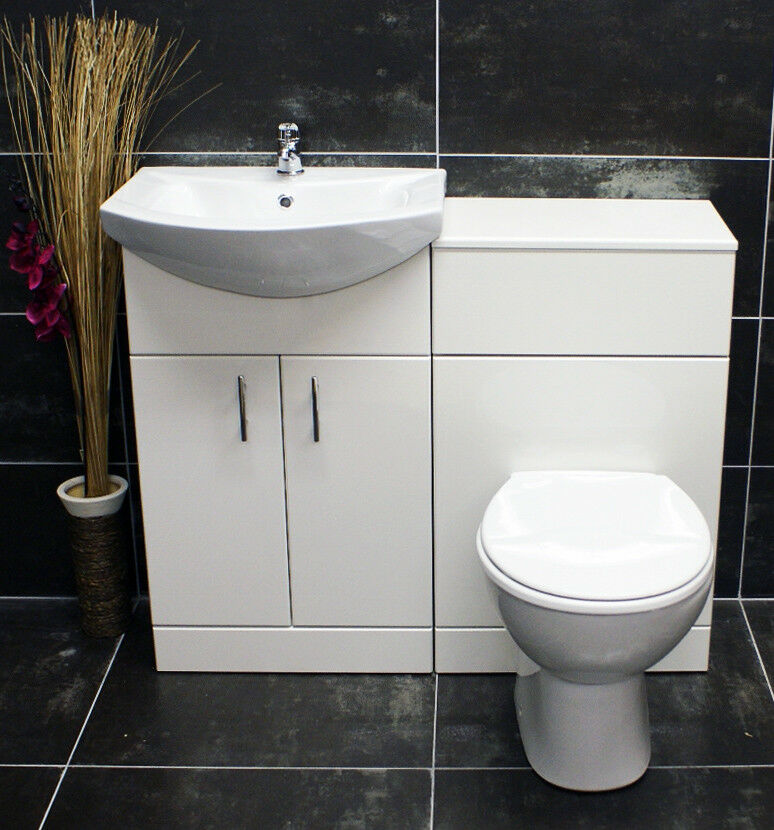 1050mm Bathroom Vanity Basin Sink Unit & Toilet Furniture ...