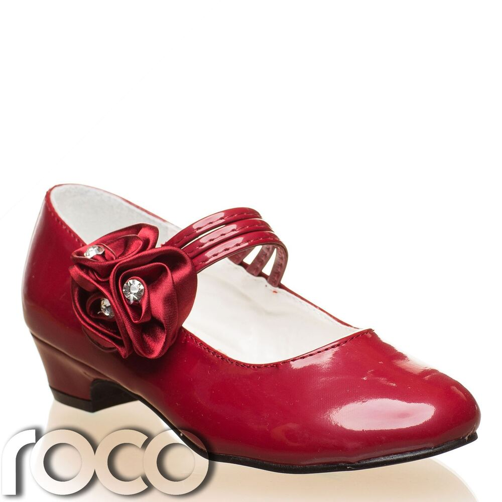 Girls Burgundy Shoes, Flower Girl Shoes, Communion Shoes