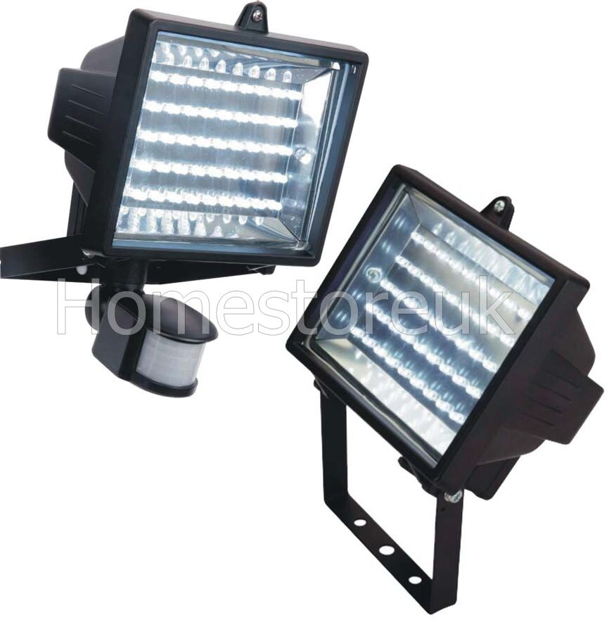 45 led bulb white flood light with pir security motion. Black Bedroom Furniture Sets. Home Design Ideas