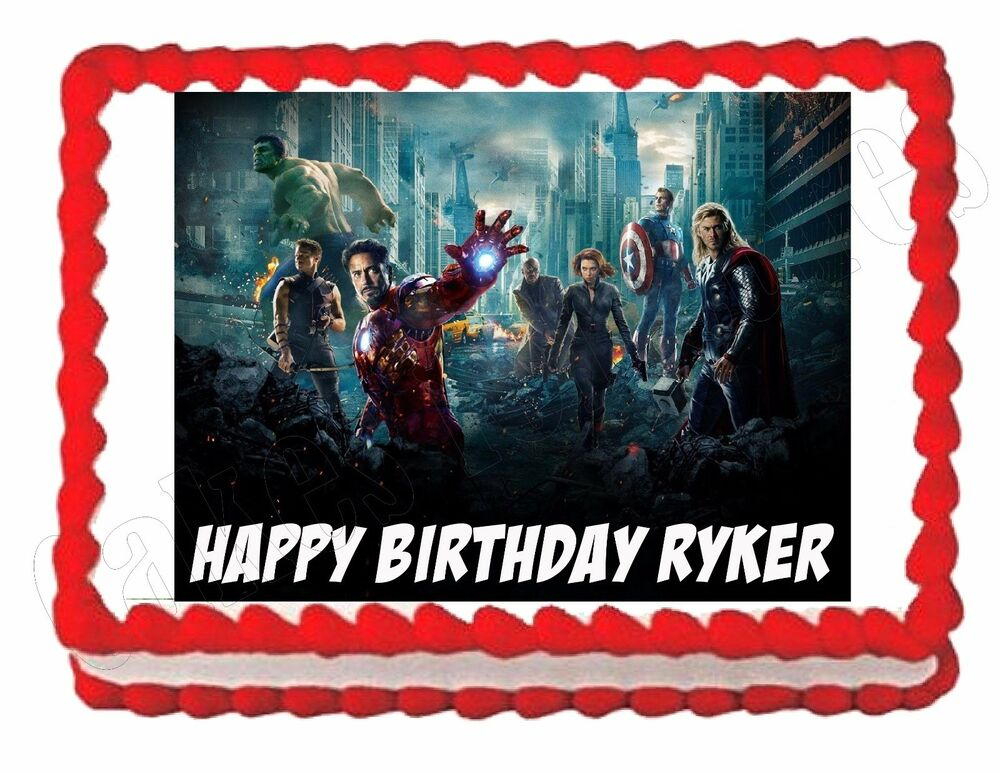 THE AVENGERS edible party cake topper decoration cake ...