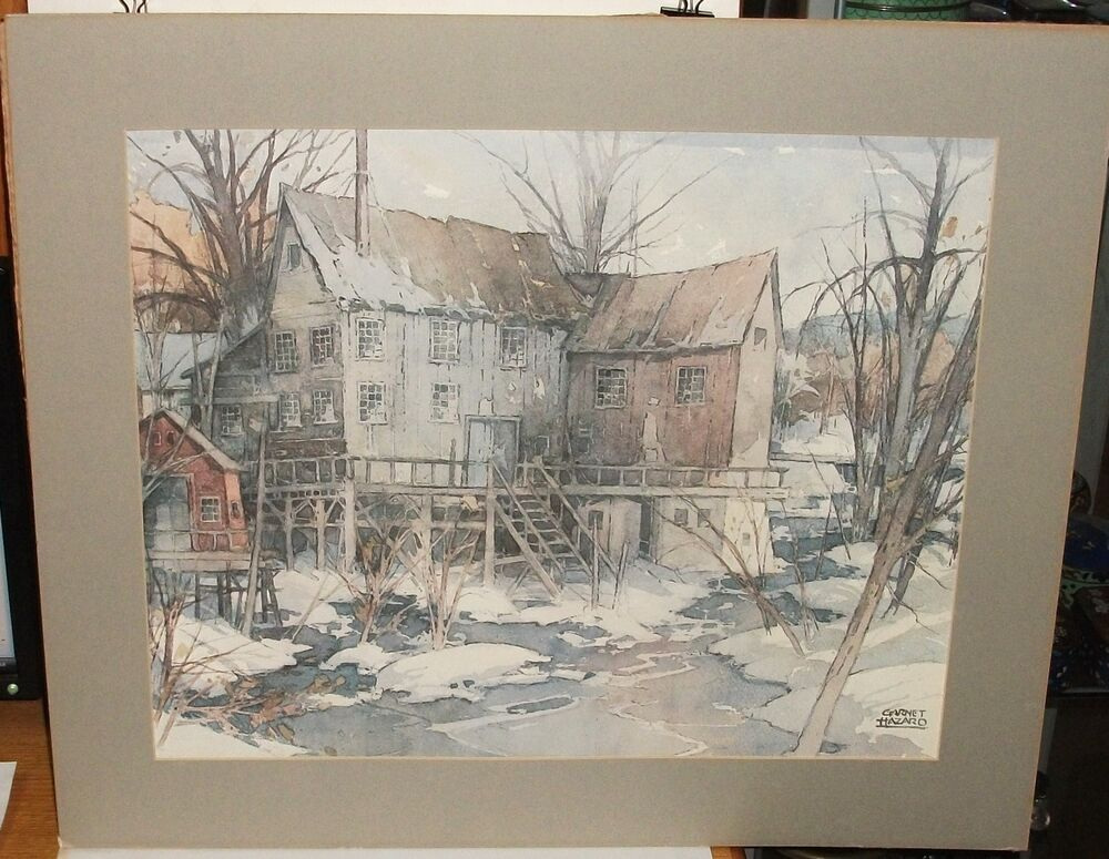 William garnet hazard vintage color landscape lithograph for Painting for sale by artist
