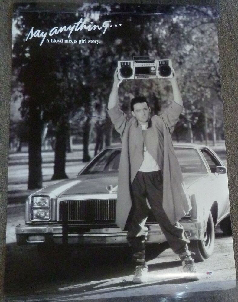 John Cusack Signed Say Anything 24x36 Movie Poster PSA/DNA ...