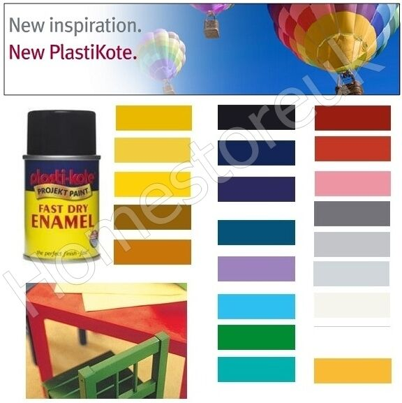 Plasti kote aerosol fast dry enamel spray paint color wood for Fast drying craft paint