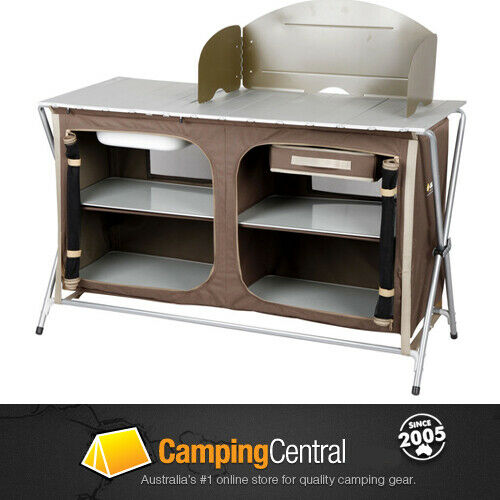 Camp Kitchen With Sink: OZTRAIL CAMPING CAMP KITCHEN DELUXE SINK TABLE *BRAND NEW