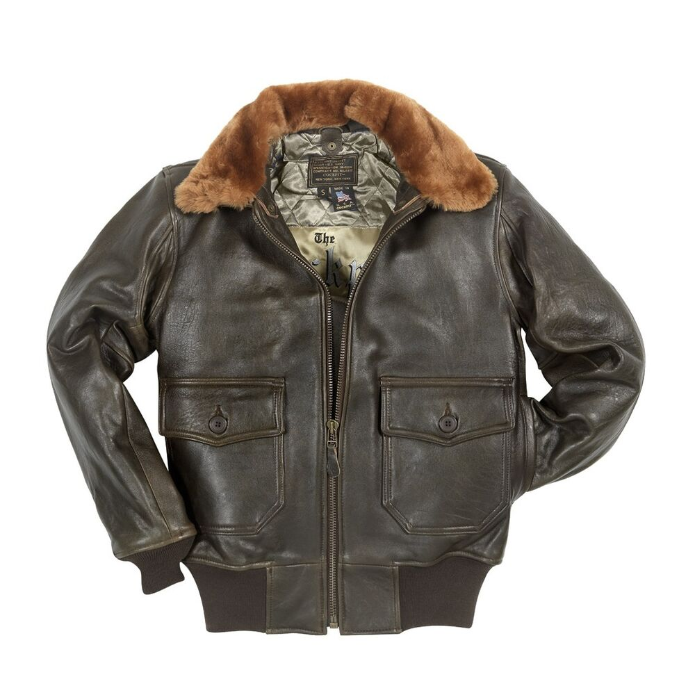 """""""Navy G-1"""" Jacket Cockpit USA Brown Or Black Made In The"""