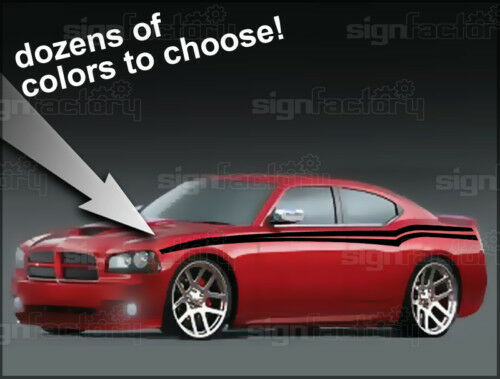 06 07 08 09 2010 Dodge Charger Side Pin Stripe Decal