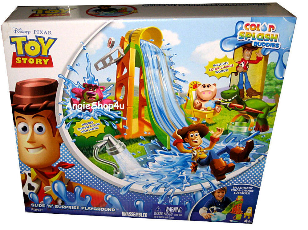Toy Story Playground : Disney pixar toy story color splash buddies slide n