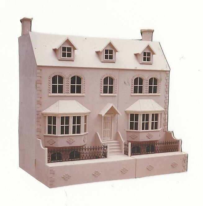 Dolls house 1 12th the priory victorian house 40 wide for Victorian kit homes