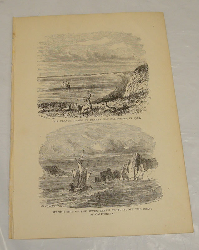1872 antique print of spanish ship off coast of california in 1600s 1872 antique print of spanish ship off coast of california in 1600s ebay publicscrutiny Choice Image
