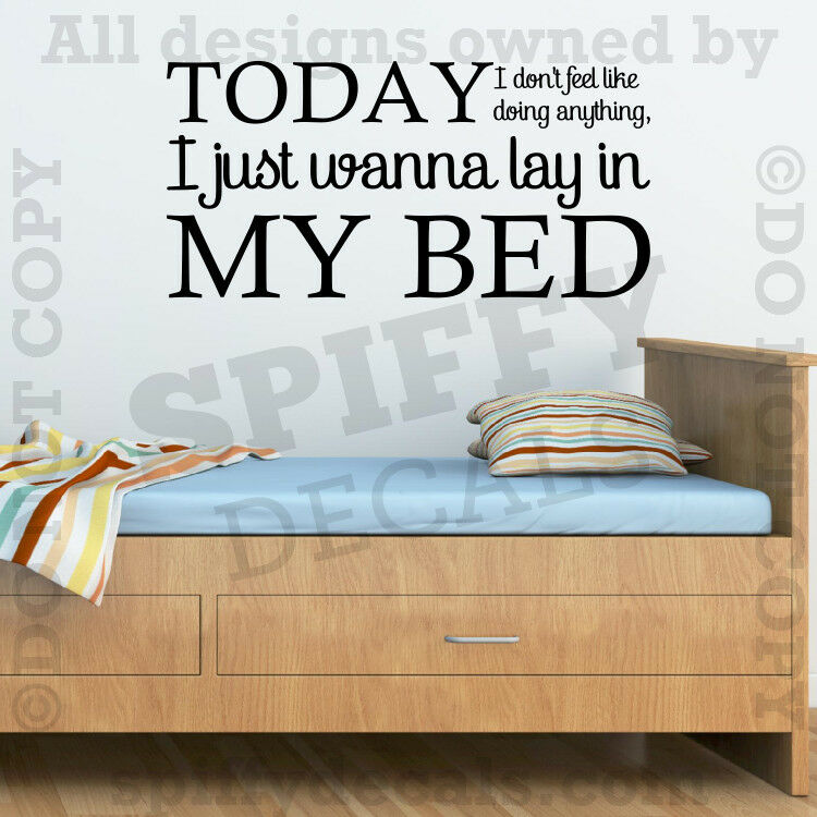 Bruno Mars The Lazy Song Lay In My Bed Quote Vinyl Wall ...