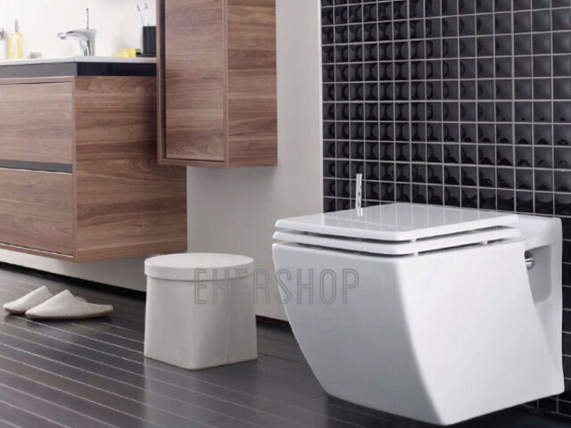 h nge wand wc eckig taharet bidet taharat wcsitz toilette tp324 mit flach d se ebay. Black Bedroom Furniture Sets. Home Design Ideas
