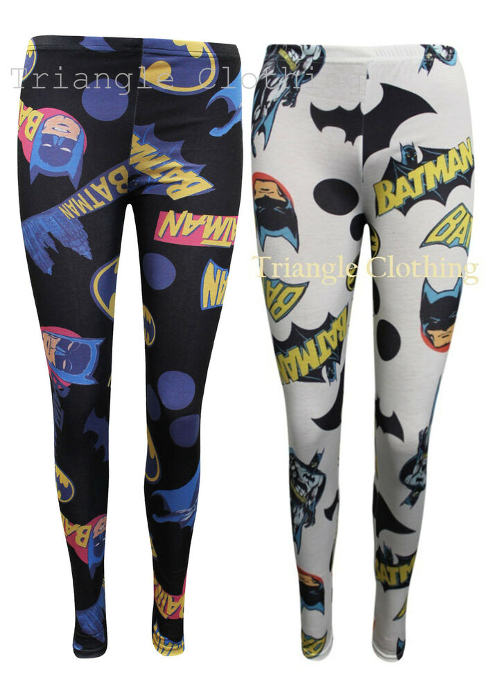 A soft pair of black leggings with the yellow Batman logo splashed across it looks great with a single-colored dress, a hoodie, or a button-down shirt. For a more colorful look, try some printed leggings with Batman comic covers and strips adorning them.