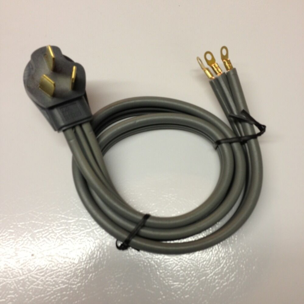 Range Cord 3 Prong 240 Volt 50 Amp 4 Foot Connector