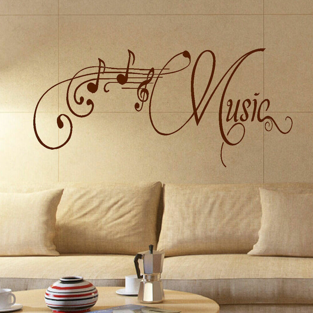 Large Music Room Wall Quote Giant Art Sticker Transfer