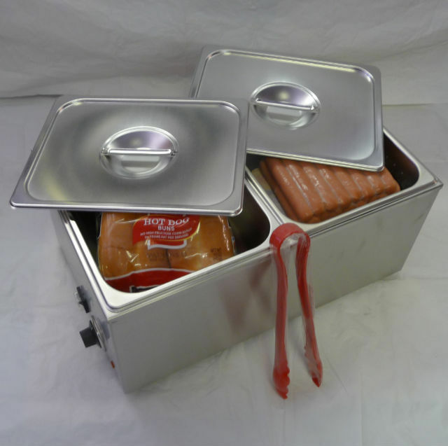 Hot Dog Steamer And Bun Warmer