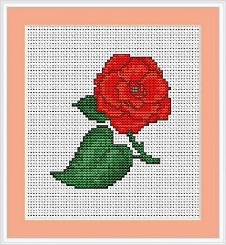 Red rose cross stitch kit luca s beginner cm ebay
