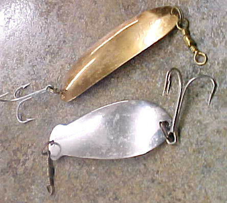 Vintage pflueger 2 0 scamper fishing lure k b spoon muskie for Vintage fishing lures ebay