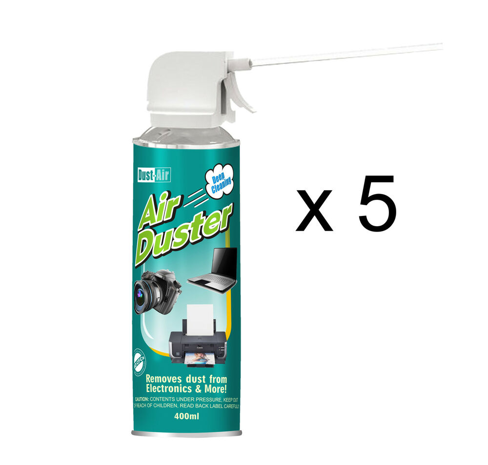 5 X 400ml Compressed Air Duster Cleaner Spray Can Canned