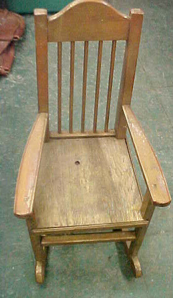 Vintage Rare Doll Size Kid Baby Rocking Rocker Chair Furniture Wooden Wood Ebay