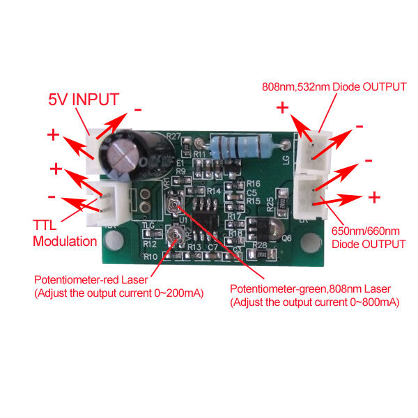 Professional Laser Diode Driver For 808nm Amp 532nm 660nm