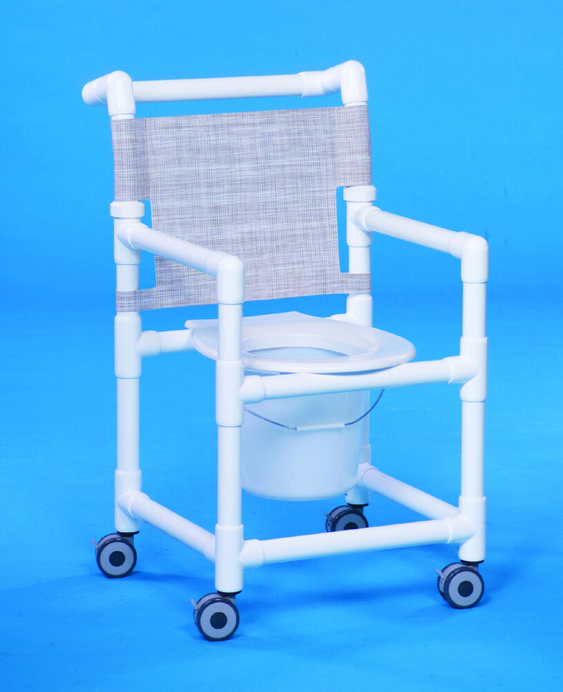 Shower Chair Commode Wheeled Rolling Ebay