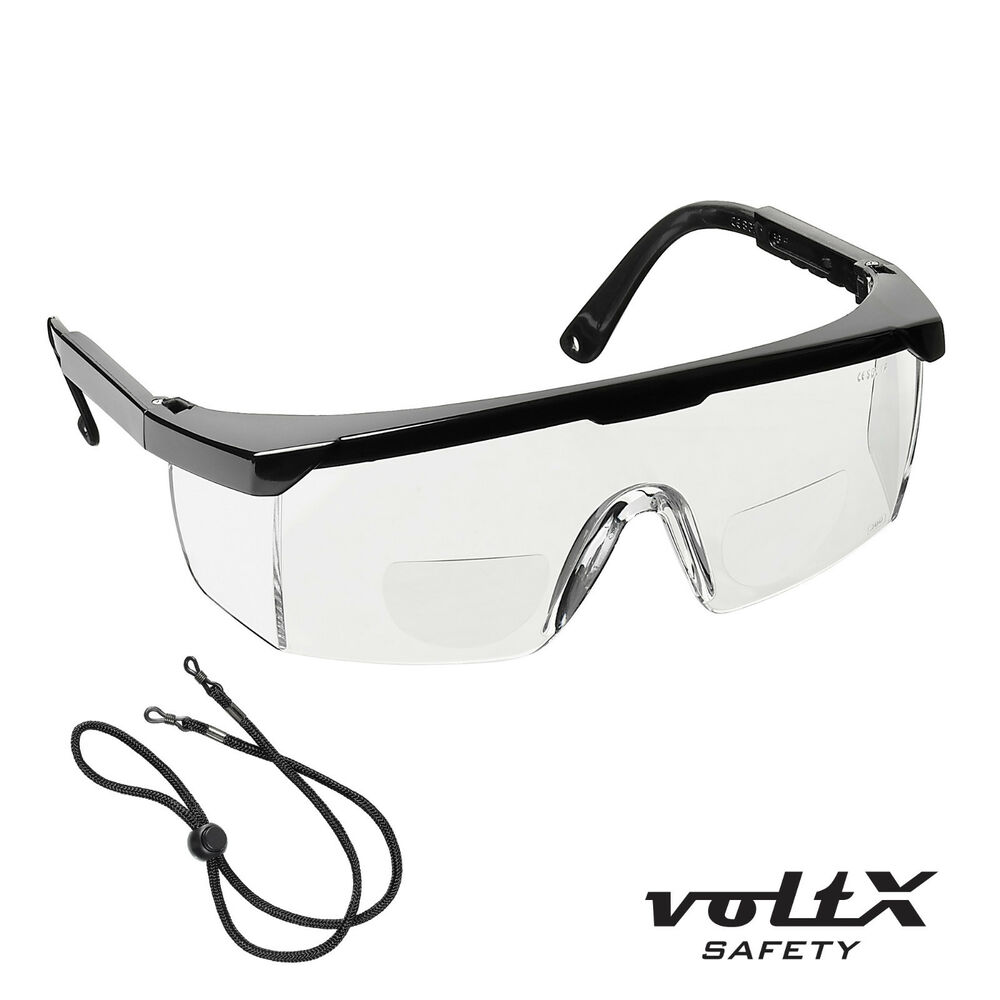 voltx classic bifocal reading safety glasses clear