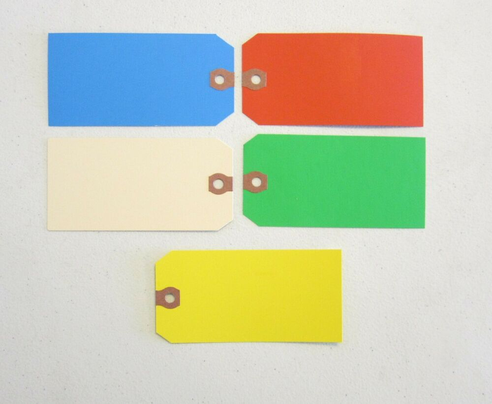 75 AVERY COLORED BLANK SHIPPING HANG TAGS SCRAPBOOK GIFT ...