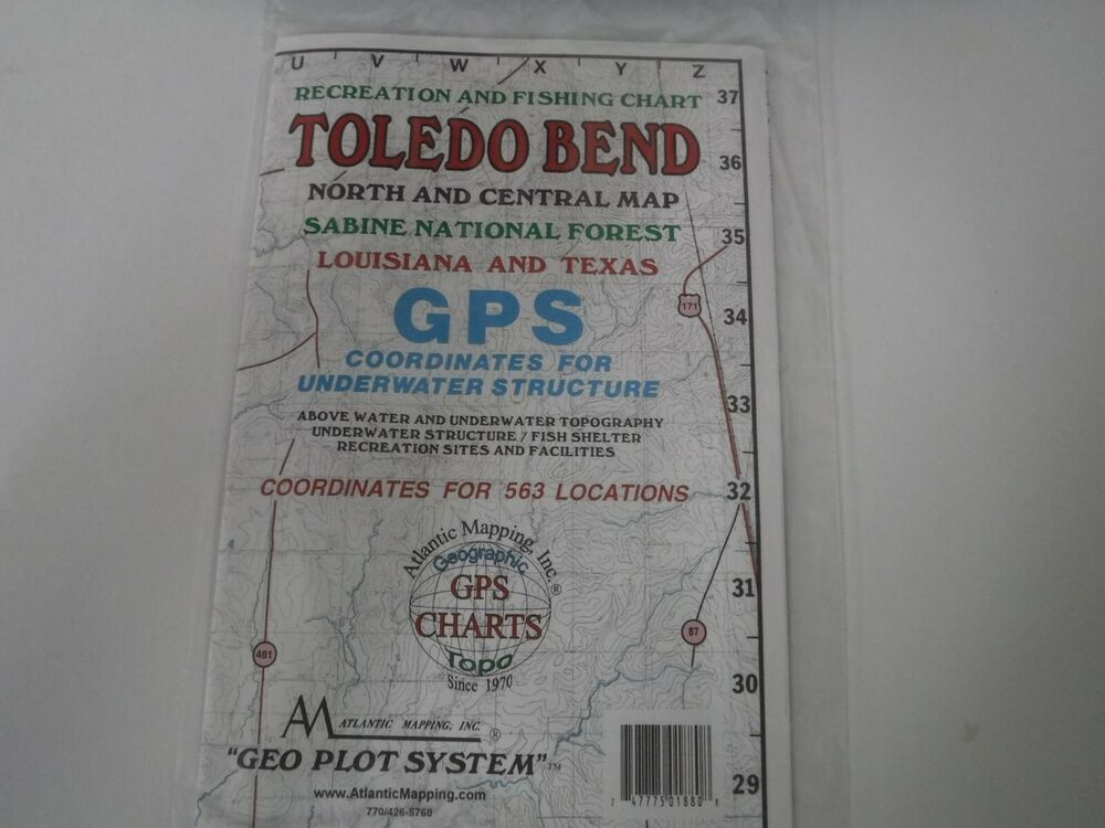 Atlantic mapping toledo bend north geographic gps charts for Toledo bend fishing map