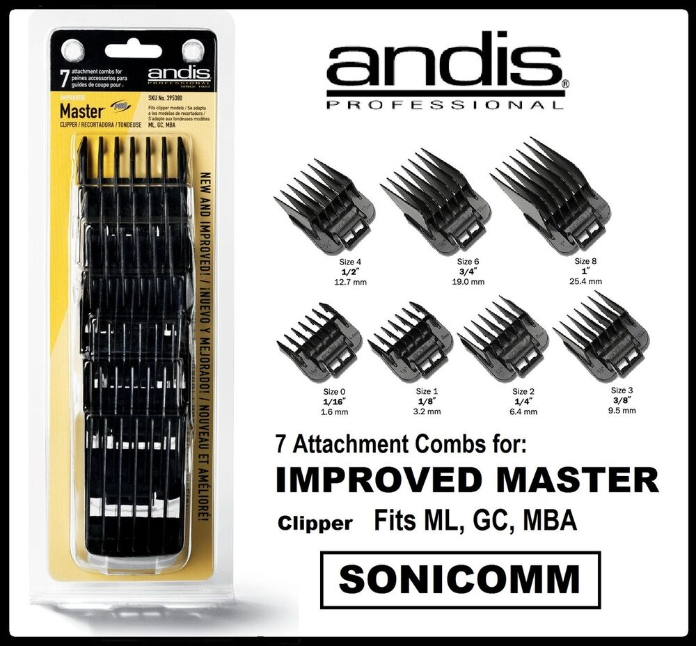 haircut clipper sizes andis 7 pc clipper attachments combs guides set 01380 1841 | s l1000